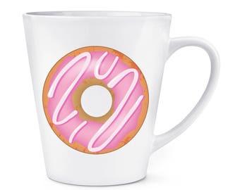 Pink Strawberry Glazed Doughnut 12oz Latte Mug Cup