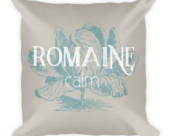 Romaine Calm Square Pillow