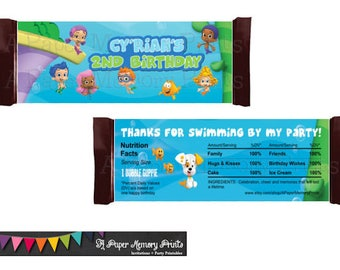 Bubble Guppies Candy Wrapper - DIY Printable