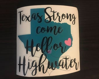 Decal- Texas Strong Decal- Texas Strong- Texas- Car Decal- Texas Decal