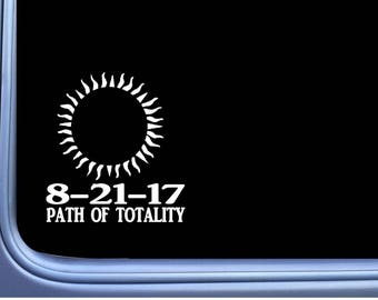 """Eclipse Path of Totality L408 6"""" decal sticker sun moon total solar"""