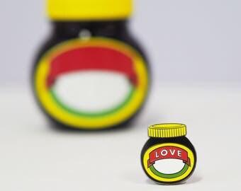 LOVE MARMITE enamel pin