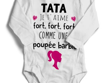 Auntie baby onesie Bodysuit I love you very strong