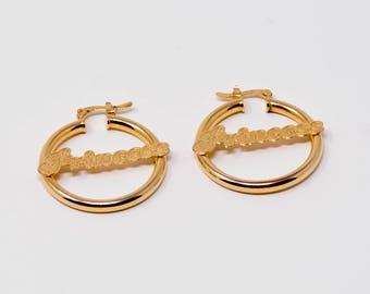 14K Gold Filled Hoop Earrings For Women