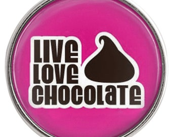 C1085  Art Glass Print Chunk - Live, Love Chocolate