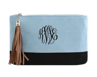 Monogrammed Clutch, Bridesmaid Gift, monogram clutch, Gift for Her, Personalized Wallet, Wristlet, Clutch, monogram purse, Evening Clutch