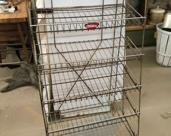 Vintage TOM'S Bread Rack, Chrome Rack, General Store Rack, Mid-Century Modern Display Rack