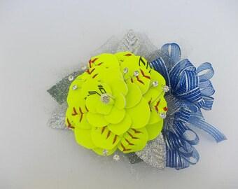 Softball Wrist Corsage Petite