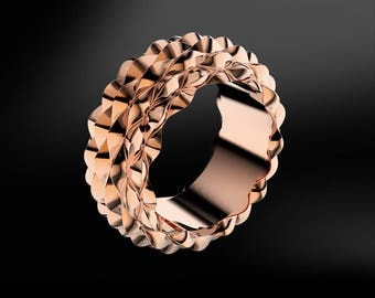 Texture Gold Design Ring