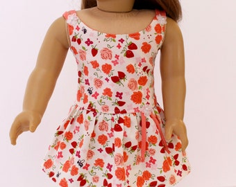 18 inch girl doll clothes - Fruit and floral strappy sundress