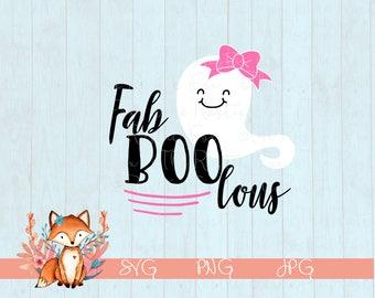 Fab BOO lous Halloween SVG, Halloween, SVG, Girls Halloween SVg, Halloween svg