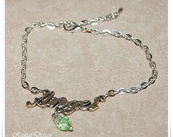 Black bracelet bracelet Angel love pendant bracelet minimalistic bracelet