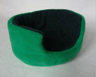 Fleece Cuddle Cup , Bed for Guinea Pig , Pygmy Hedgehog , Degu , Rat etc (Emerald Green / Bottle Green)