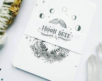 Moon Phase Print, Moon deck,Affirmation cards, Moon deck oracle,Moon phase tarot cards, Tarot cards, Moon tarot cards, Moon phase print
