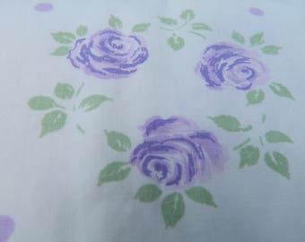 Cannon purple rose muslin 81 inch full or double flat sheet / 2 available