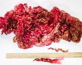 "Brown and Red Dyed Wensleydale Teeswater Cross Per Ounce 4""- 5"" Locks Great for Doll Hair Reroot Felting Locks Spinning Weaving Accents"
