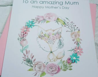 Handmade Beautiful Mother's day card. Mother's day, handmade card, handmade mother's day card,