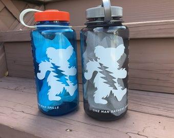 Grateful Dead Nalgene Water Bottle, Dancing Bear