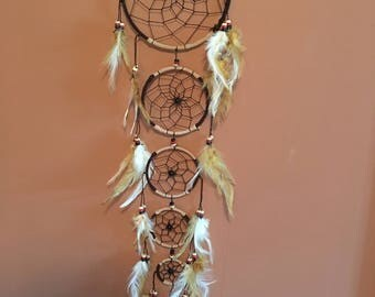 """6"""" Dream Catcher,Brown & Tan,Large ,Reiki Charged, Legend, Native, Hand Wrapped,Dreamcatcher, Energy Healing, Protection"""