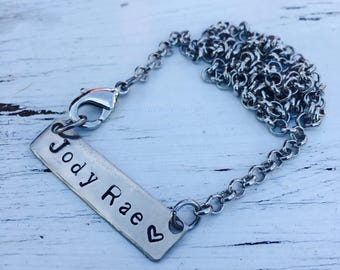Personalized name tag necklace