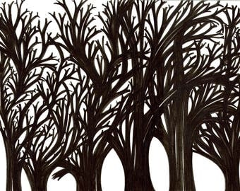 Original Drawing- I am a dead tree