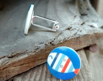 Cuff Links - Fish Buttons