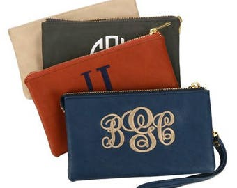 Heartstrings Personalized Luxe Wristlet with Detachable Strap