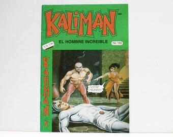 Kaliman El Hombre Increible No 166 El Dragon Rojo Revista en Español Comic Book in Spanish RARE