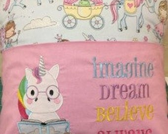 Reading Pillow/ Pocket Pillow/ Book Pillow,Unicorn