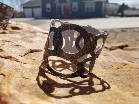 Sparkle Vinyl Cuff Bracelet - Loop de Loops