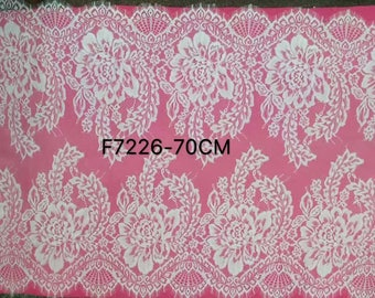 3yards lace strip ,white Eyelash Lace Trim ,flower Lace-7226-70
