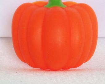 12 Pumpkin 3D Cupcake Rings Halloween Fall Thanksgiving Toppers Party Favors
