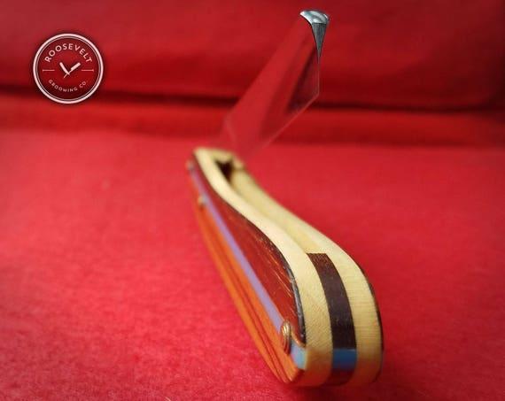 Surfboard Inspired Restored Vintage Razor - Shave Ready J.R. Torrey Blade