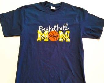 Basketball Mom Tee - Basketball Mom Shirt - Proud Basketball Mom - Game Day Shirt - Custom Basketball - Mom Basketball Shirt