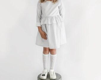 Pin Stripe Autumn long sleeve dress - {Young Girl - 0-8 yrs}
