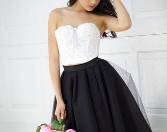 Tulle skirt, Black Tulle Skirt, Bridesmaid Skirt , Flower Girl Skirt, Petticoat, Gown, Wedding Skirt,Tulle skirt for women, Adult Tutu