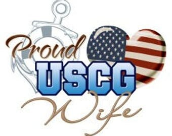 Proud Coast Guard wife cross stitch pattern, USCG wife, USCG cross stitch, military cross stitch pattern, military spouse, USCG wife pattern
