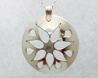 Sterling Silver Starburst Pendant