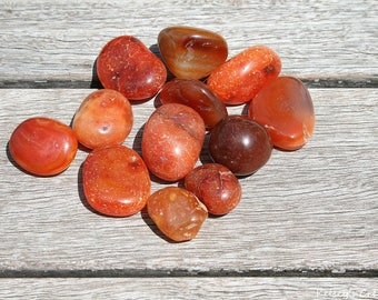 Tumbled Carnelian | Healing Stone | Healing Crystal | Spiritual Stone | Tumbled Stone | Gemstone |