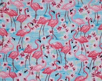 Timeless Treasures Fabric Collections - Oasis Flamingos with Floral Pink | PRE-ORDER Fabric | Quilting, Sewing, Apparel, Home Decor