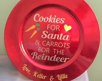 Cookie for Santa plate