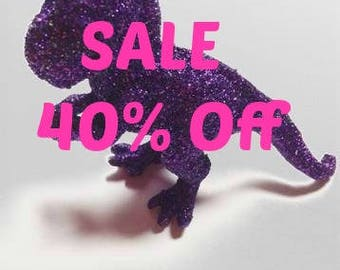 Dinosaur, Glitter dinosaur, Purple dinosaur