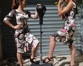 women cotton bellissima sleeve wrap dress