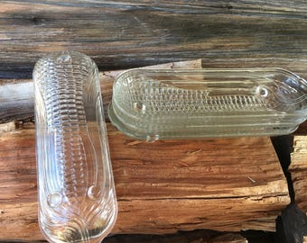Vintage, Glass Corn Cob Holders Set of 4, Vintage Kitchen, Farmhouse Decor, Home and Living,