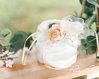 T50 Bridal bag, bridal bag, cosmetic bag, flower bag, flower girl, bridalbag, bag, clutch, ivory, flower bag, Satinbag, pink