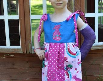 Girls Appliqued Poppy Troll Dress