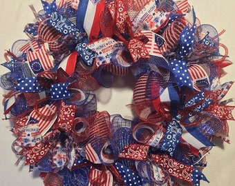 Sale 4th of July wreath, Fourth of July wreath, patriotic wreath, 4th of July wreaths, patriotic wreaths, 4th of July, wreath, patriotic dec