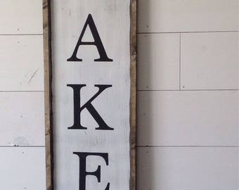 Bakery sign, farmhouse sign, farmhouse decor, bakery decor, wood sign, vertical bakery sign, kitchen decor,  kitchen sign, kitchen sign,