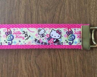 Hello Kitty  Key Chain Zipper Pull Wristlet