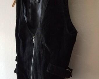 Leather Top Vest